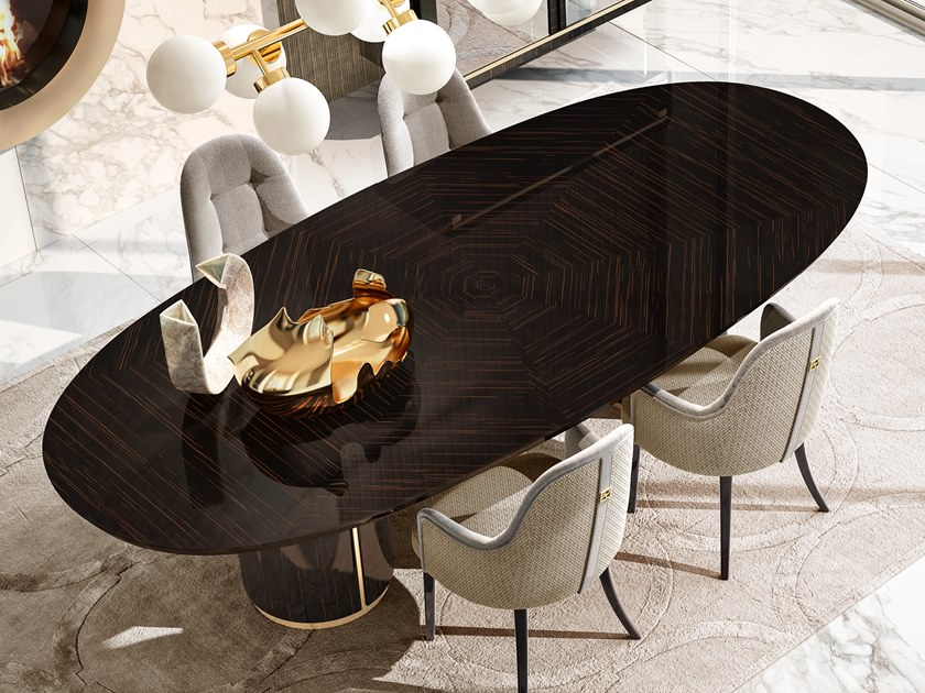 Lacquered oval dining table RICHMOND UPON THAMES | Oval table by Barnini Oseo
