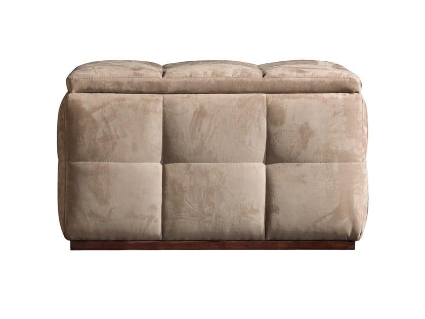 Storage upholstered rectangular pouf RICHMOND | Rectangular pouf by Barnini Oseo