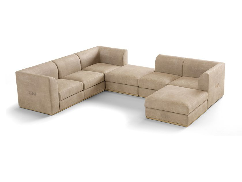 Sectional fabric sofa RICHMOND | Sectional sofa by Barnini Oseo
