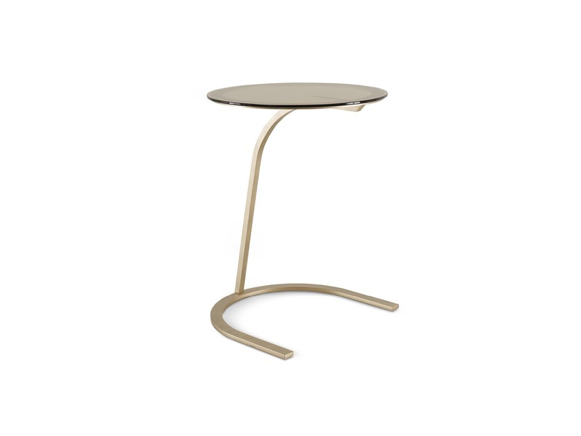 Round glass high side table RICHMOND   Side table by Barnini Oseo