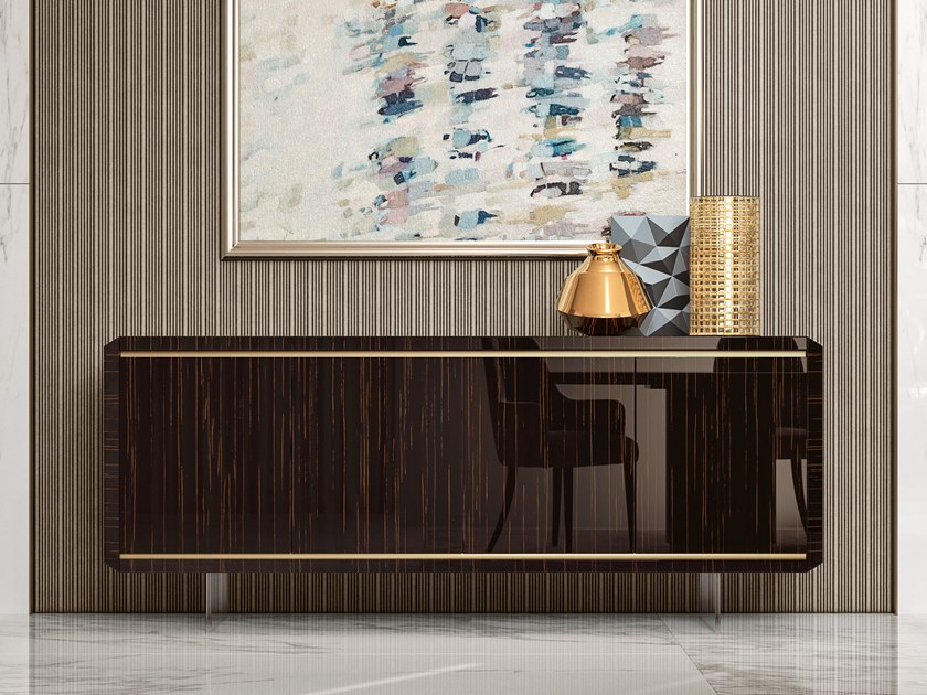 Lacquered wooden sideboard with doors RICHMOND | Sideboard with doors by Barnini Oseo