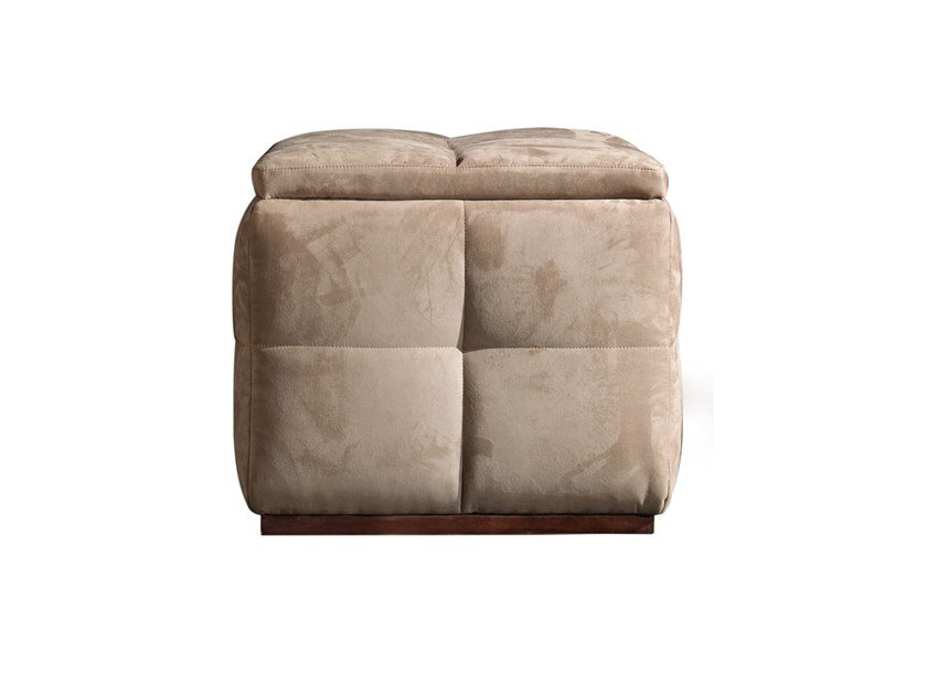 Storage upholstered square pouf RICHMOND | Square pouf by Barnini Oseo