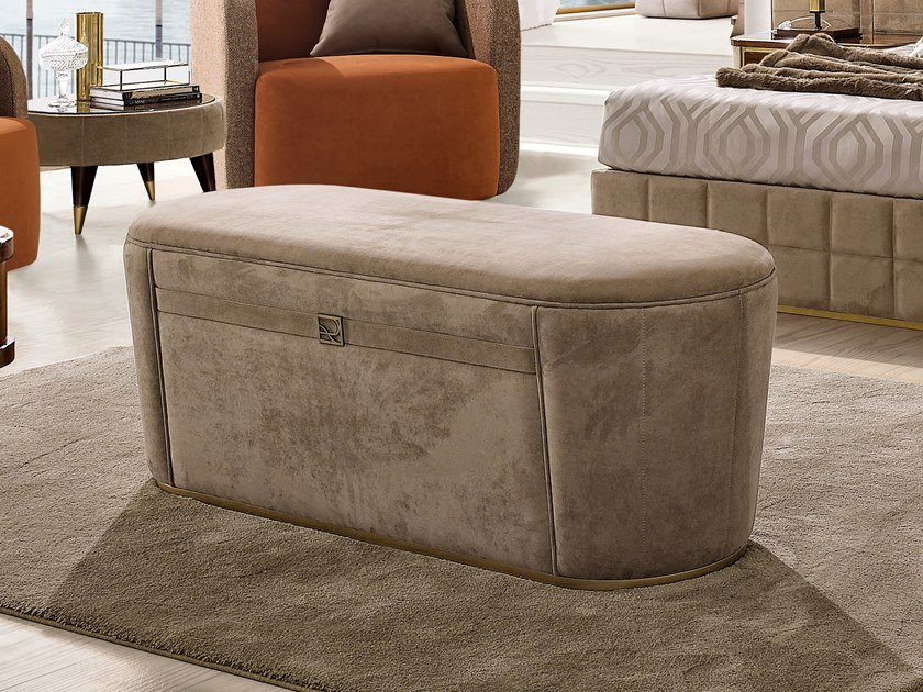 Storage upholstered fabric bench RICHMOND | Storage bench by Barnini Oseo