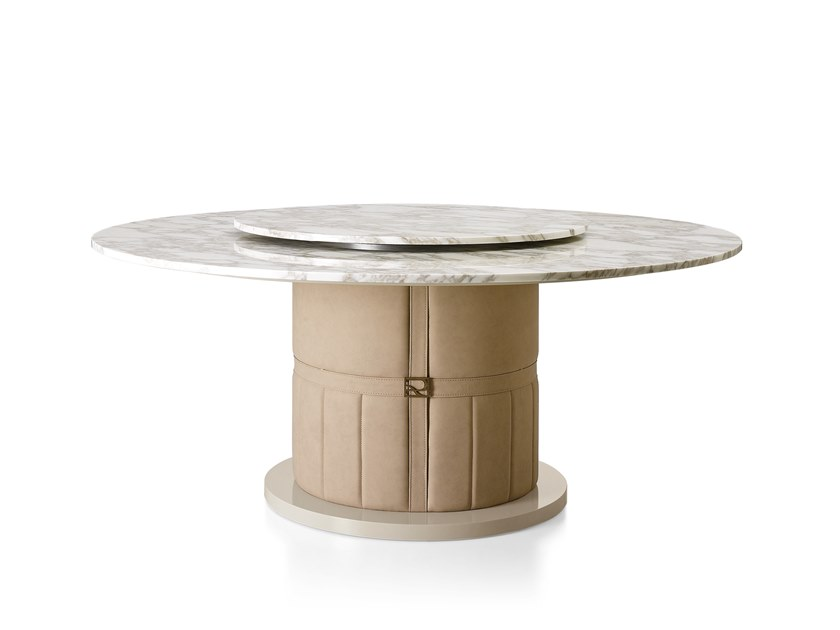 Round marble table with Lazy Susan RICHMOND | Marble table by Barnini Oseo