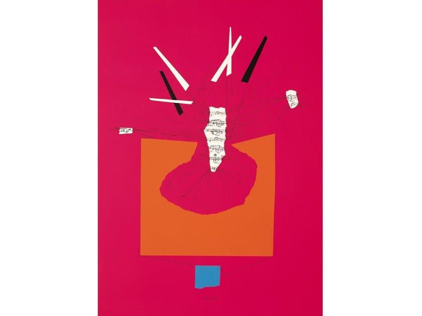 Serigrafia in carta RICOSTRUZIONE TEORICA, ROSA by Danese Milano