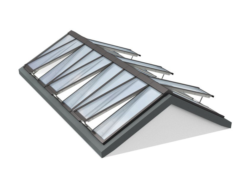 Glass and steel roof window RIDGELIGHT 25-40° by Velux Modular Skylights