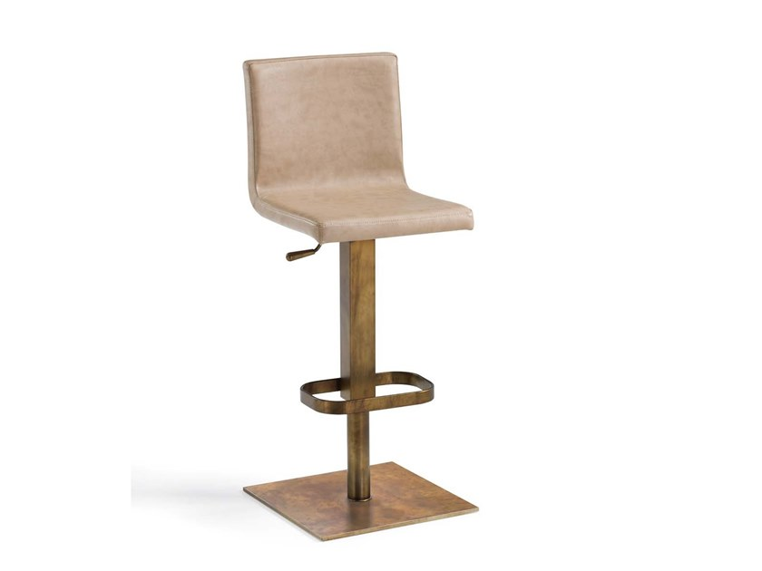 Swivel height-adjustable stool RIESE by Trevisan Asolo