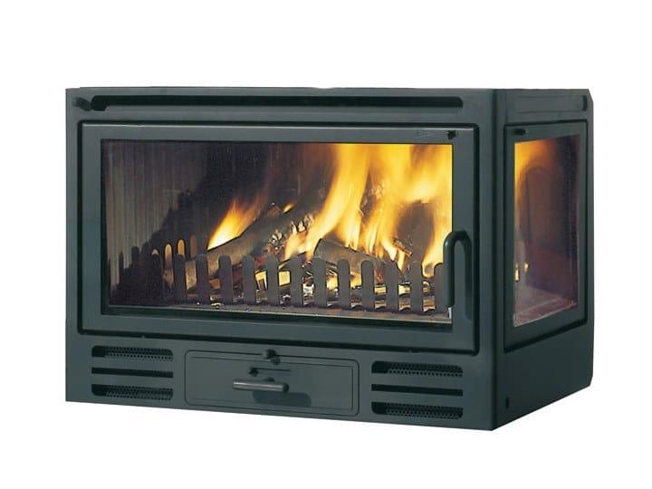 Wood-burning Corner cast iron Fireplace insert Firebox RIGA 49 by EDILKAMIN