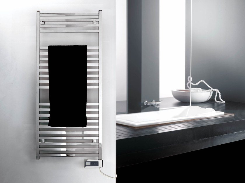 Electric steel towel warmer RIGHT ELECTRIC PLUS by DELTACALOR