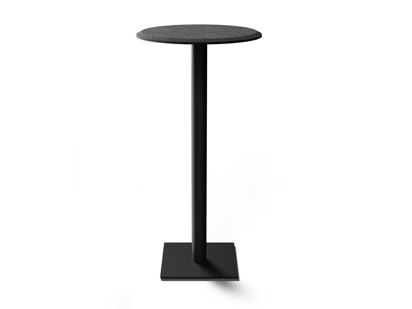 Round lava stone high table RIGHT | High table by BUZAO