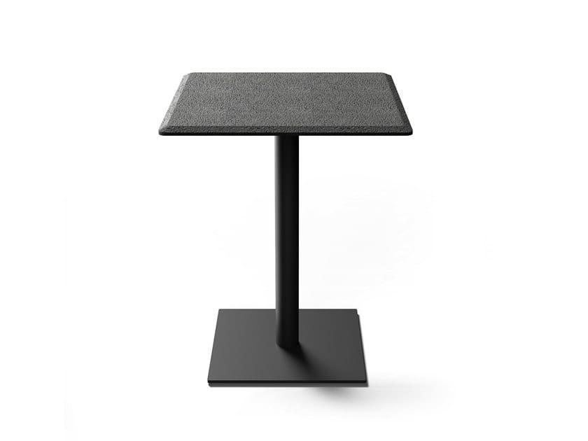 Square lava stone table RIGHT | Square table by BUZAO