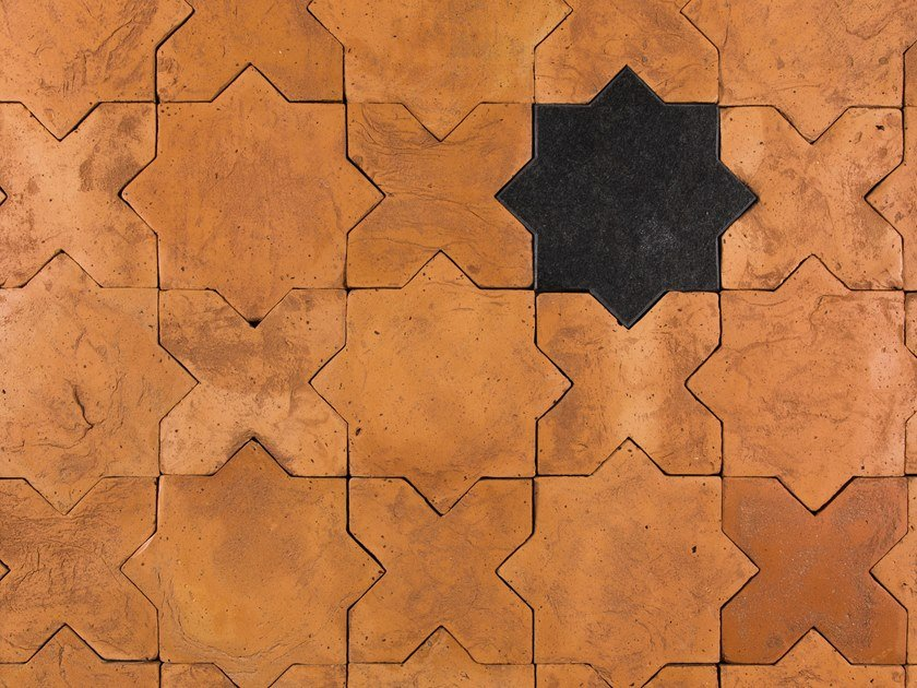Terracotta wall/floor tiles RINASCIMENTO by Palazzo Morelli