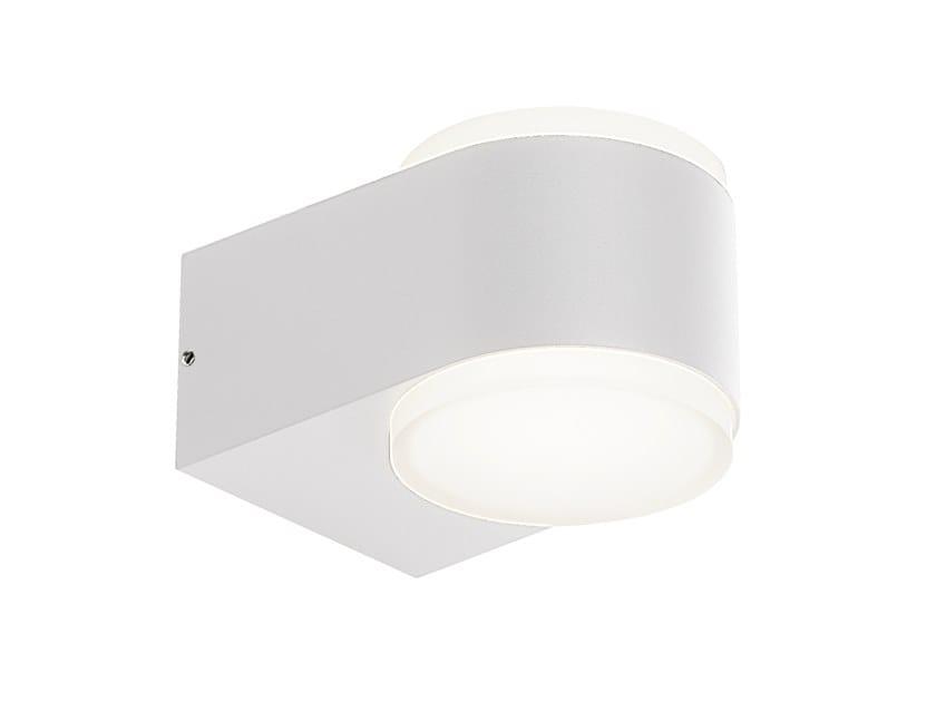 Applique per esterno a LED in alluminio pressofuso RING 4W+4W by SOVIL