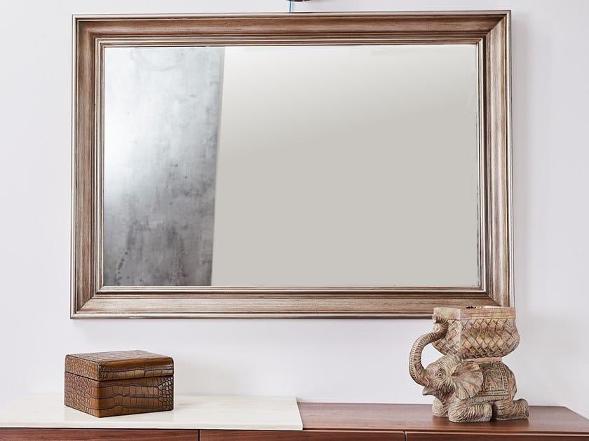 Rectangular framed wooden mirror RING | Framed mirror by AMA Design