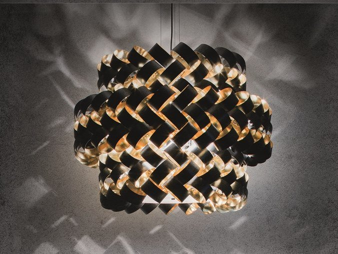 Steel and PVC pendant lamp RING MIX by Pallucco