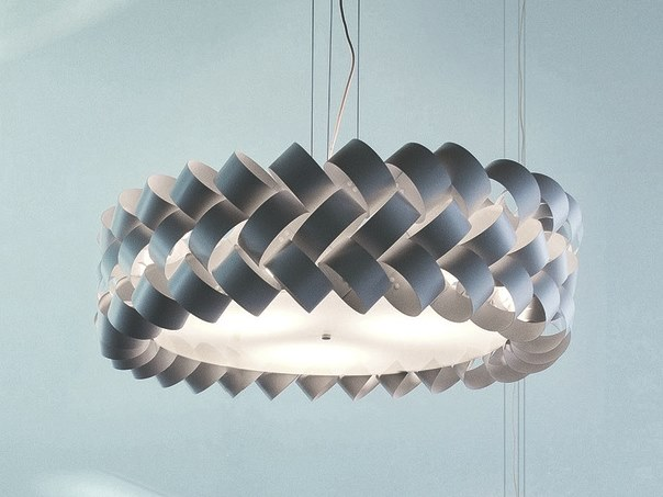 Steel and PVC pendant lamp RING by Pallucco