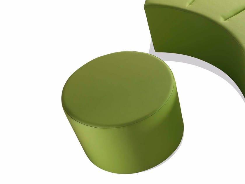 Upholstered pouf RINGO   Imitation leather pouf by Sedex