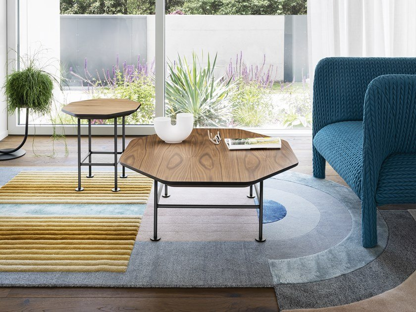 Octagonal wooden coffee table RINGO by Miniforms