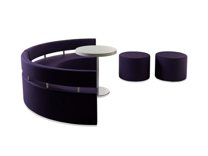 Upholstered modular bench with back RINGO STAR | Bench with back by Sedex