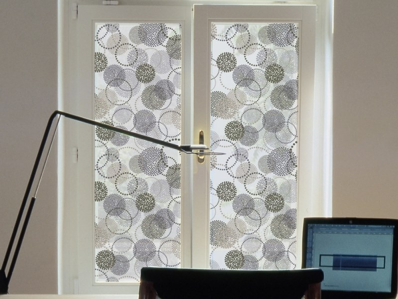 Adhesive decorative window film RINGS by ACTE-DECO