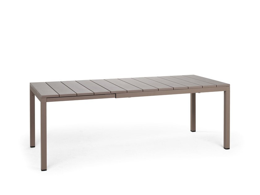 Extending rectangular garden table RIO 140 by Nardi