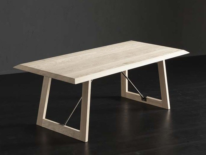 Rectangular wooden dining table RIO + FLAT/ TIRANTI by AltaCorte