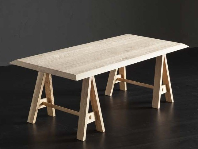 Rectangular wooden dining table RIO + HORSE by AltaCorte