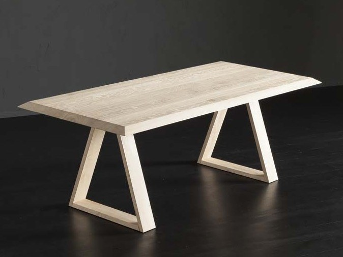 Rectangular wooden dining table RIO + MEKANO by AltaCorte