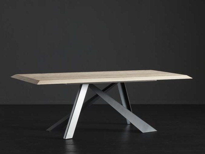 Rectangular wooden dining table RIO + METAL by AltaCorte