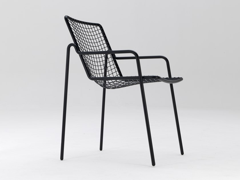 Steel chair with armrests RIO R50 by emu