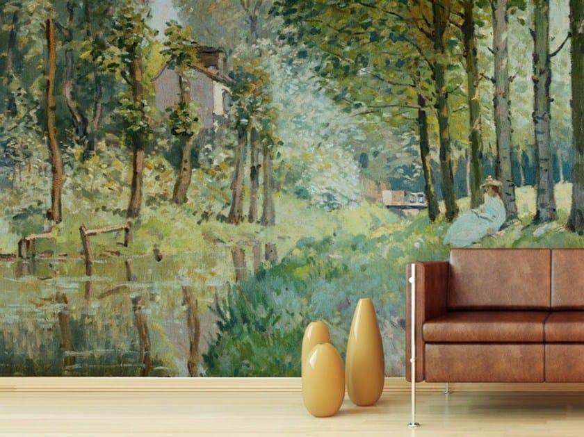 Landscape wallpaper RIPOSO PRESSO LA RIVA DI UN TORRENTE by Wallpepper