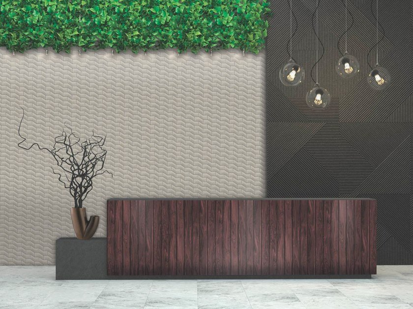 Indoor/outdoor polyurethane mosaic RIPPLE LARGE by MyMosaic