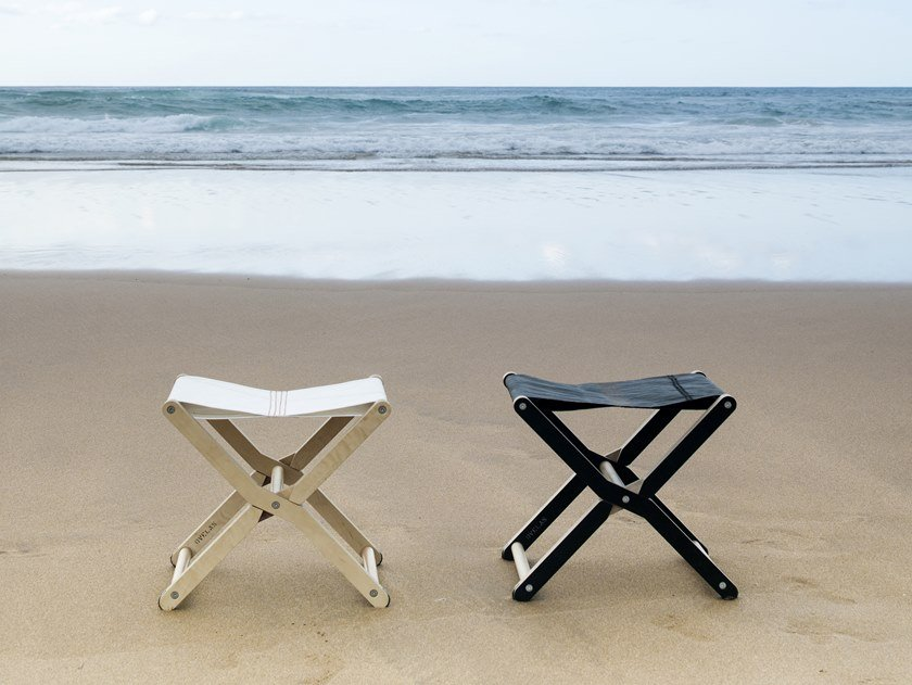 Folding recovered sail stool RIS | Stool by DVELAS