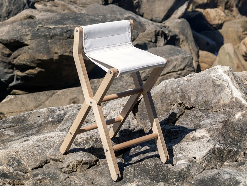 High folding recovered sail stool RIS | High stool by DVELAS