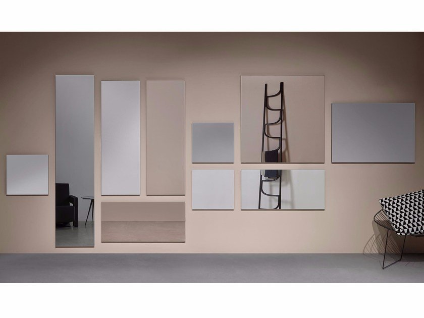 Rectangular wall-mounted bathroom mirror RISMA by Antonio Lupi Design