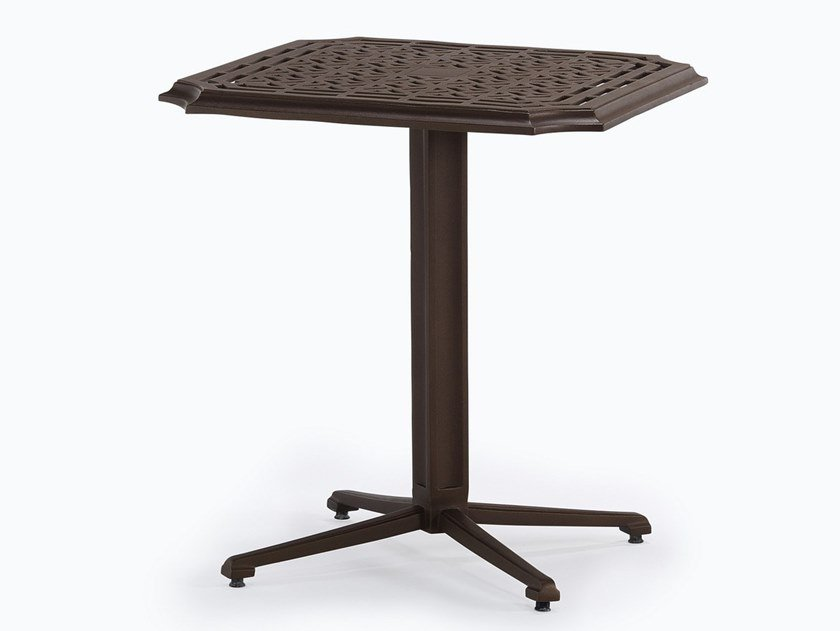 Square aluminium garden table RISSINGTON | Table with 4-star base by Oxley's Furniture