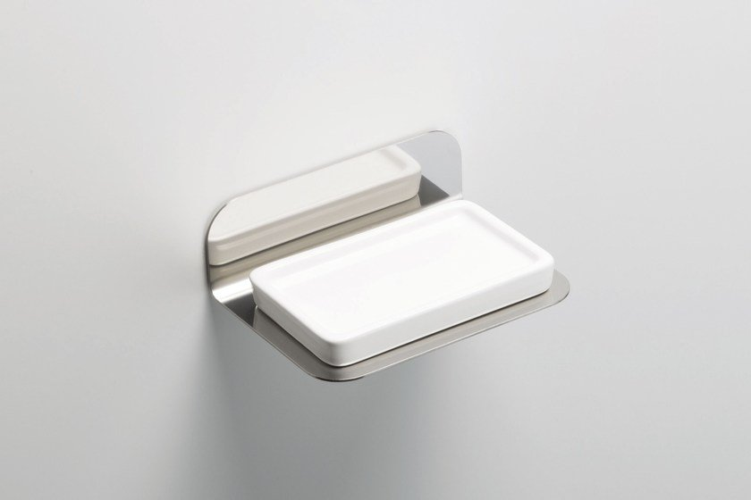 Wall-mounted stainless steel soap dish ACCESSORIES | Stainless steel soap dish by RITMONIO