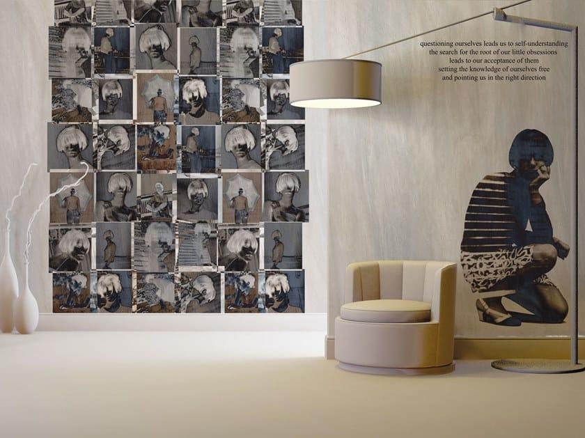 Contemporary style writing glass-fibre wallpaper RITRATTI by Tecnografica Italian Wallcoverings