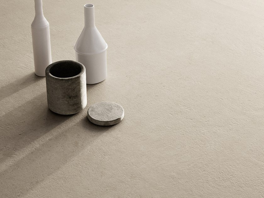 Indoor porcelain stoneware wall/floor tiles with stone effect RITUAL SAND by CERAMICA SANT'AGOSTINO