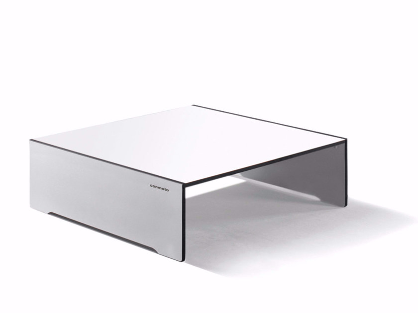 Low square HPL coffee table RIVA | Low coffee table by conmoto