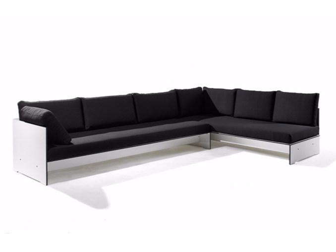 Corner sectional upholstered sofa RIVA COMBINATION D by conmoto
