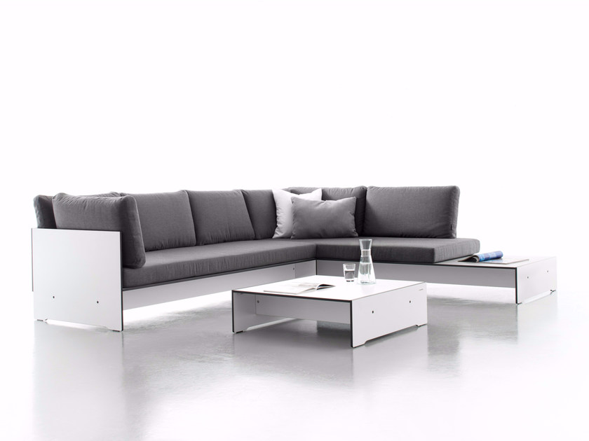 Corner sectional upholstered sofa RIVA COMBINATION E by conmoto