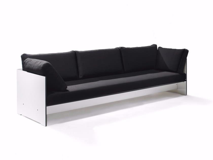 Upholstered fabric sofa RIVA | Sofa by conmoto