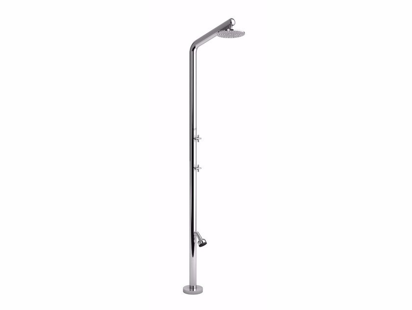 Stainless steel outdoor shower RIVA L BEAUTY by Inoxstyle