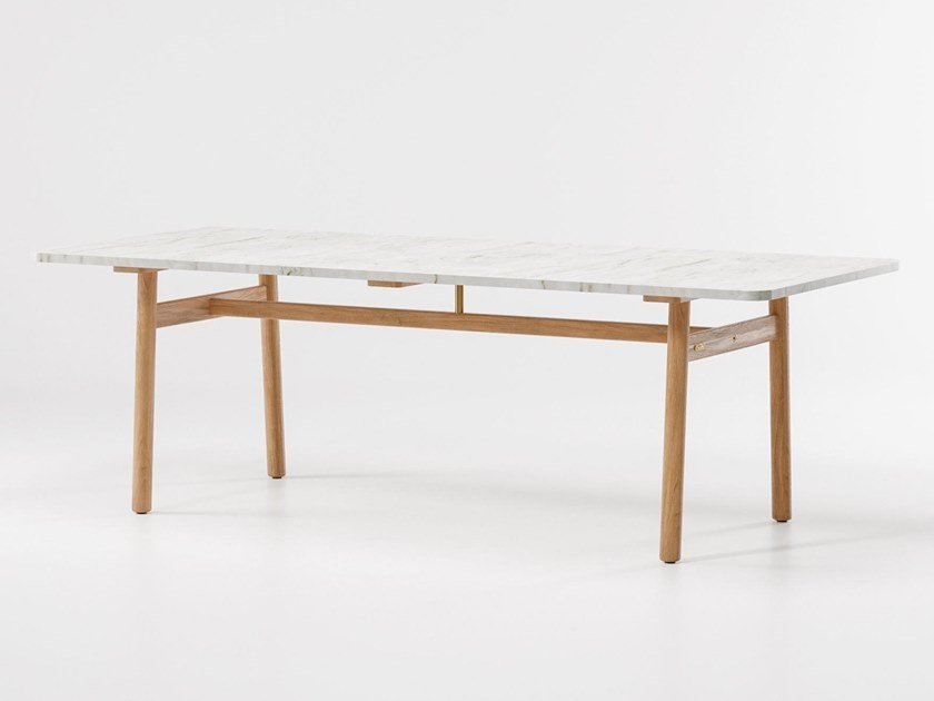 Rectangular marble garden table RIVA | Marble table by Kettal