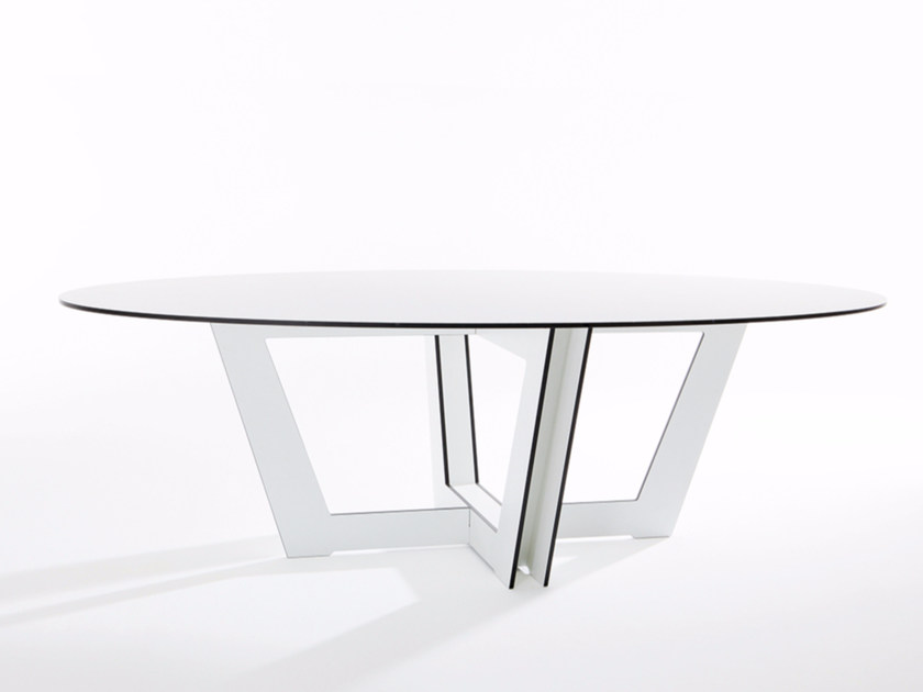Oval HPL dining table RIVA   Oval table by conmoto