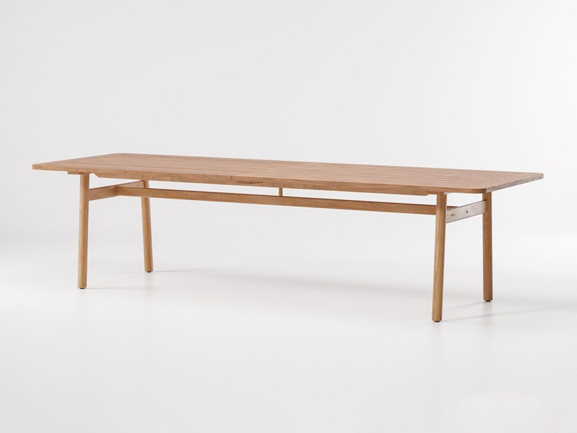 Rectangular teak garden table RIVA | Rectangular table by KETTAL