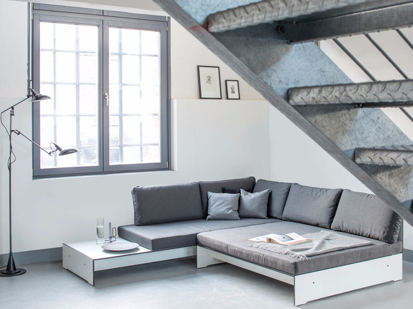 Corner upholstered sofa RIVA SUPERLOUNGE by conmoto