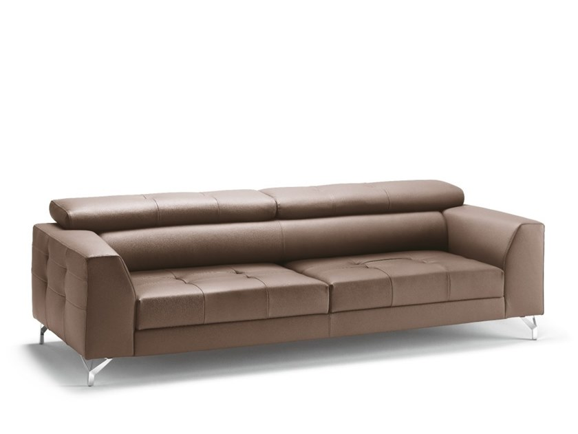 2 seater leather sofa RIVER | Leather sofa by Gobbo Salotti