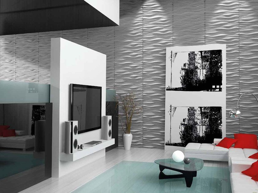 Bamboo fibre 3D Wall Cladding RIVER by RECORD - BAGATTINI